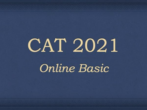 CAT 2021 Online Preparation