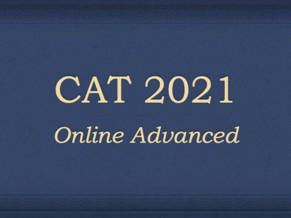 CAT 2021 Online Course