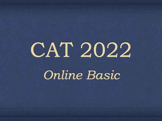 CAT 2022 Online Preparation