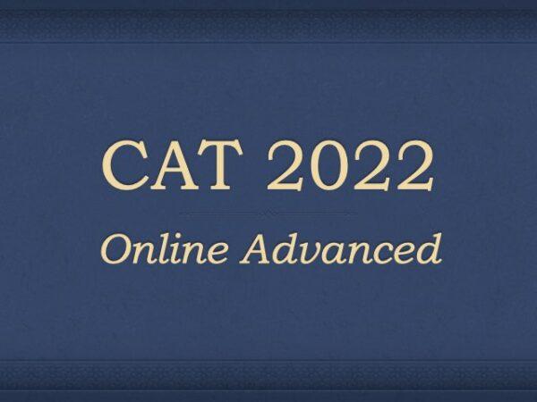 CAT 2022 Online Course