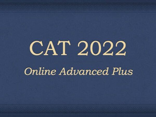 Online CAT Preparation 2022