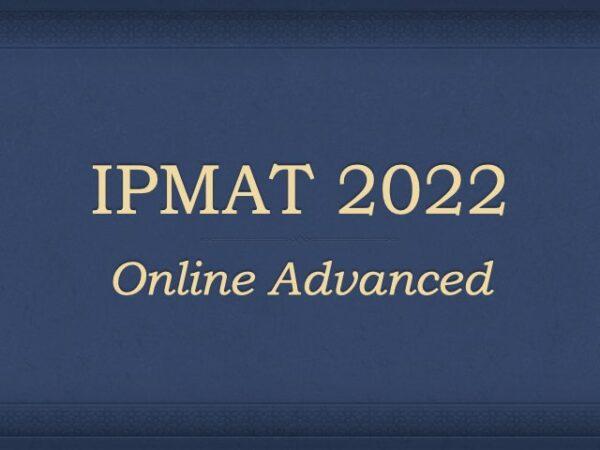 IPMAT 2022 Online Course